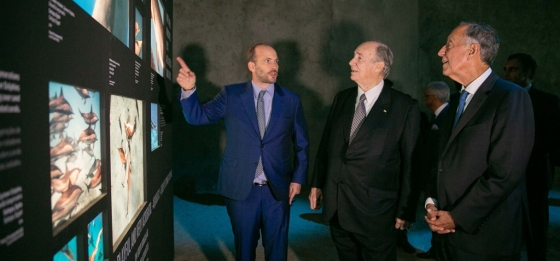 Hussain Aga Khan with his father and Portuguese President in Lisbon