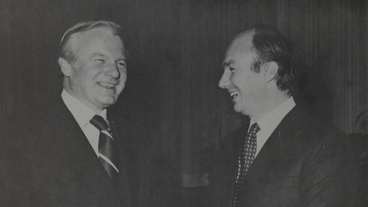 Bill Davis and Aga Khan