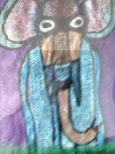 Mr. Sneaky Peeky and the Two Red Tailed Monkeys Illustration by Lee Mathison, author Farah Tejani published in simerg