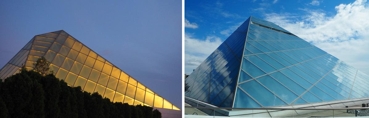 Crystalline glass dome of the Ismaili Headquarters Jamatkhana Toronto