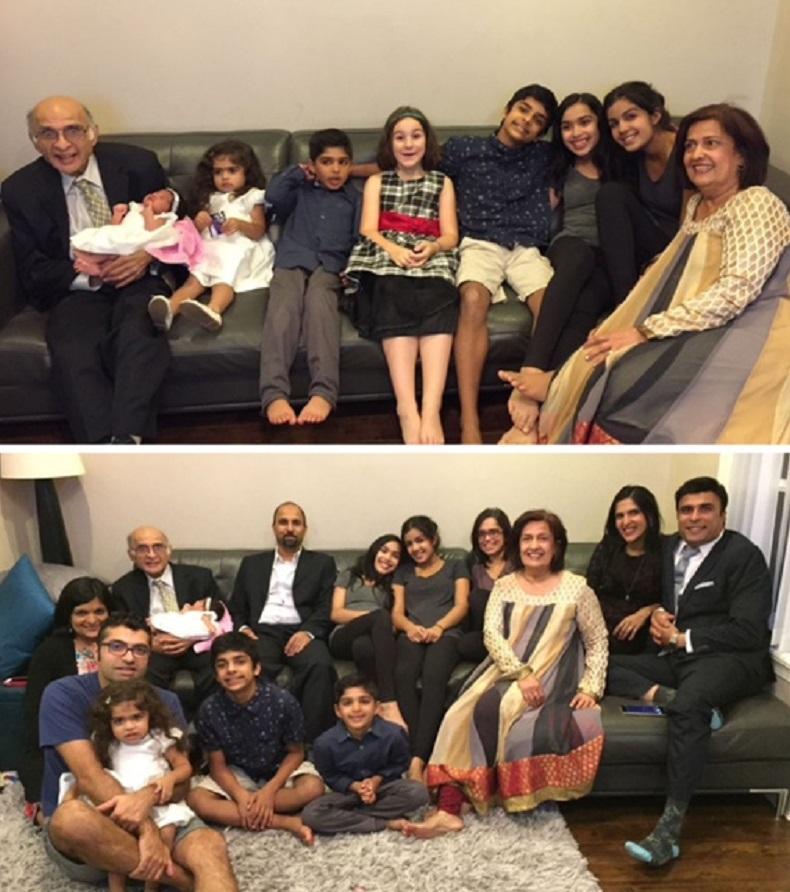 Nizar Chunara with his family, Simerg passings